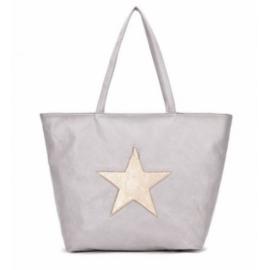 Shopper grijs met ster