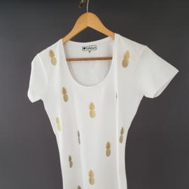 Dames t-shirt Ananasjes