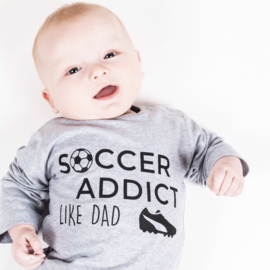 Baby/Kids Shirt SOCCER ADDICT LIKE DAD