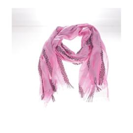 Sjaal Roze/ Zwarte print