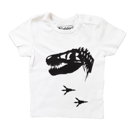 Baby/Kids Shirt Dino Skelleton
