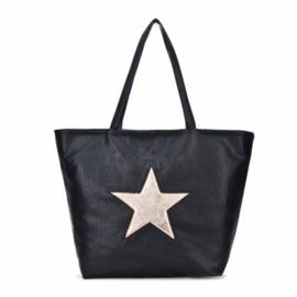 Shopper zwart met ster
