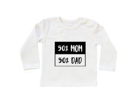 Baby/Kids Shirt 50% MOM 50% DAD