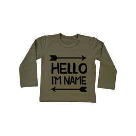 Baby/Kids Shirt Hello I'M NAME