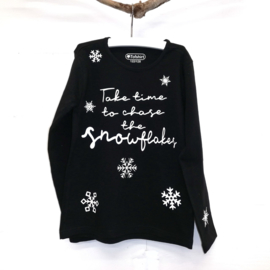 Baby/Kids Shirt Chase Snowflakes