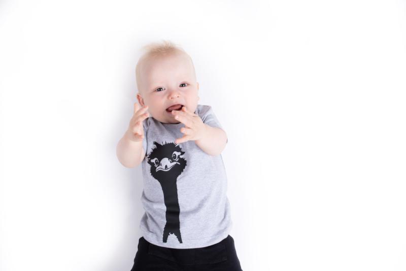 Baby/Kids Shirt Struisvogel