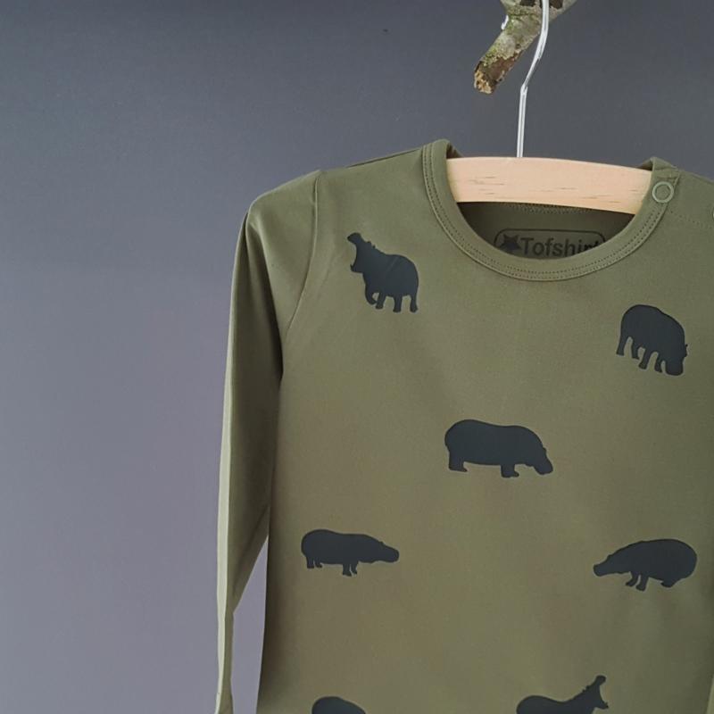 Baby/Kids Shirt Nijlpaardjes