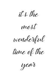 It's the most wonderful time of the year II A5 formaat