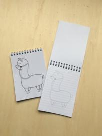 Schrijfblokje alpaca