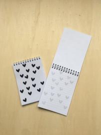 Schrijfblokje hartjes
