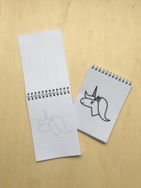 Schrijfblokje unicorn