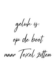 Geluk is op de boot naar Texel zitten