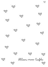 Alleen maar liefde (dubbele kaart)