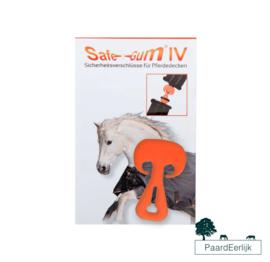 Safe-Gum Veiligheidssluiting paardendekens voor T-sluiting  - Oranje
