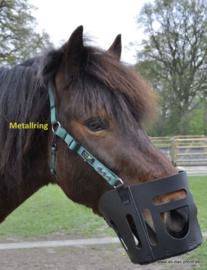 AS das Pferd- Lederen graasmasker / graaskorf met halster