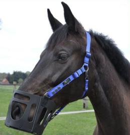 AS das Pferd - Lederen graasmasker / graaskorf met halster