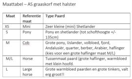 AS - Lederen graasmasker / graaskorf met halster
