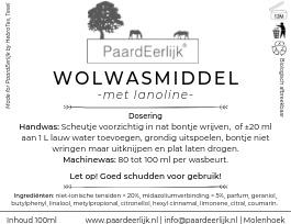 PaardEerlijk® Wolwasmiddel met lanoline