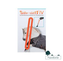 Safe-Gum Veiligheidssluiting voor musketonhaken, paardendekens en halsters - Oranje