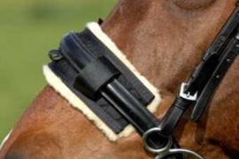 Christ® Neusbontje voor AS das Pferd lederen graaskorf voor aan eigen halster