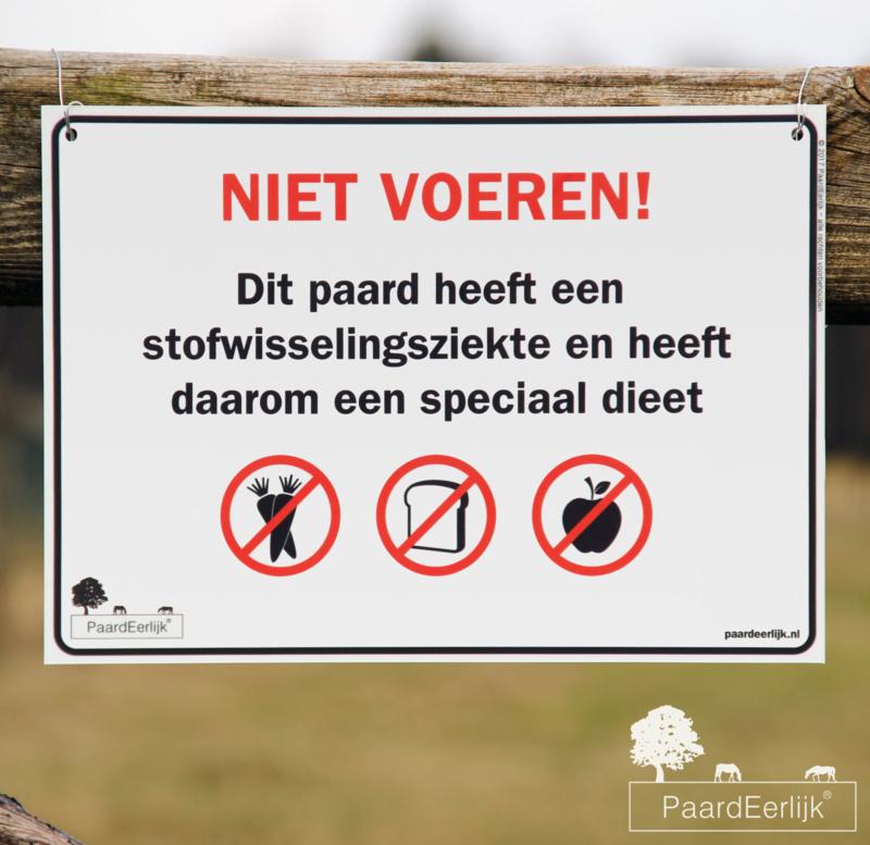 Informatiebord 'Niet Voeren!' - Stofwisselingsziekte