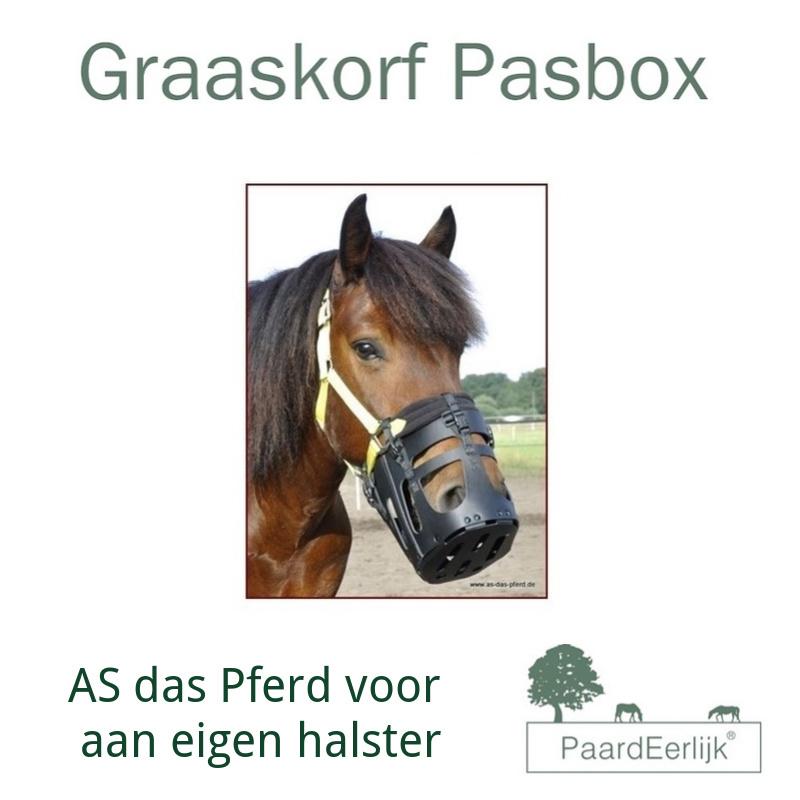 PASBOX AS Das Pferd graaskorf voor aan eigen halster.