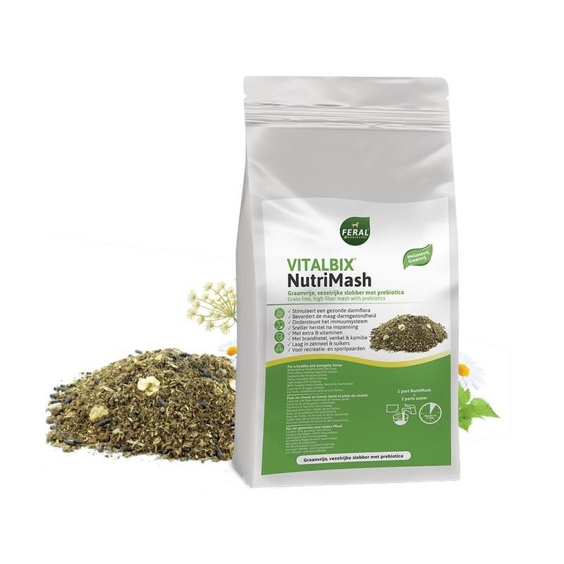 Vitalbix NutriMash vezelrijke, graanvrije slobber - 14KG
