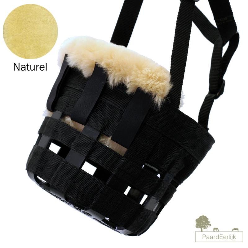 Merino schapenvacht neus en kin beschermer voor graaskorf - Naturel