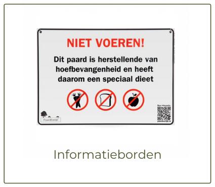 Informatiebord, niet voeren bord paard