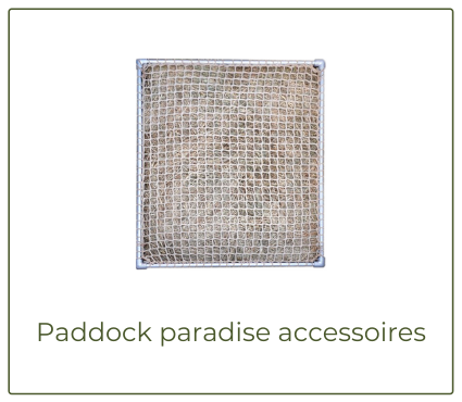 paddock paradise accessoires slowfeederrek slowfeederbak windbreekgaas