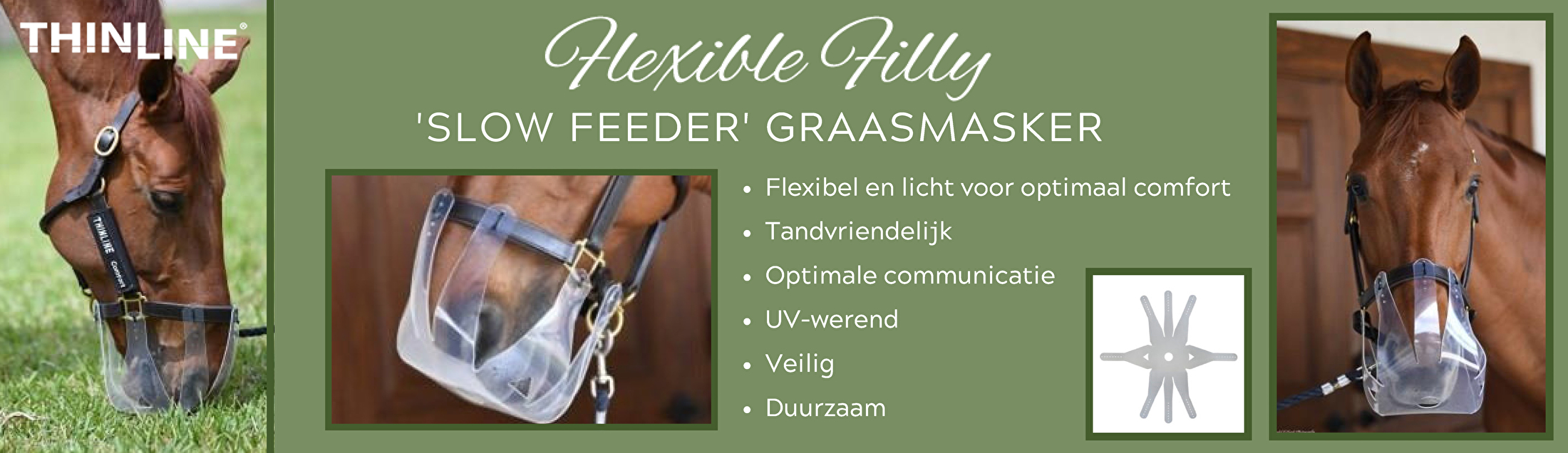 Thinline Flexible Filly Graasmasker