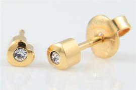 Schietoorbel Hartje Goldplated Crystal