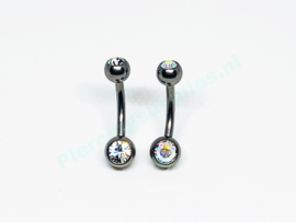 Baby double jeweled navel 1.6 x 10mm
