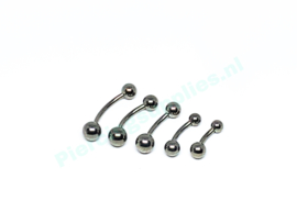 Curved barbell 1.6 mm