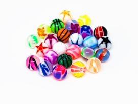 25 diverse leuke designs ballen 2 euro