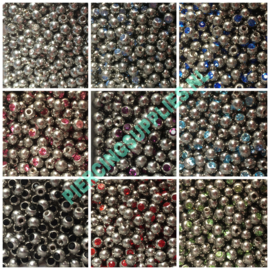 Jeweled Ball 1.2 x 2,5 mm diverse kleuren