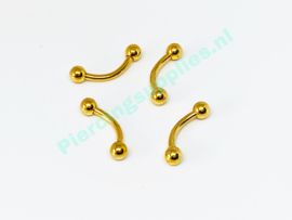 Gold Colored Curved Barbell 1.2 x 8mm