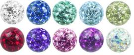Epoxy glitter ballen 3 mm