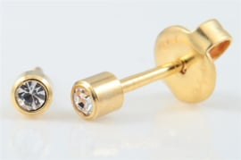 Schietoorbel Crystal Goldplated 3mm