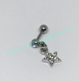 Helixpiercing met hangende ster