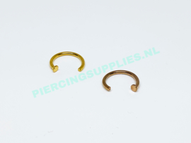 Gold Colored Nose Hoop gold/rose gold