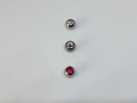 Ball 1.6 x 5 mm met steentje
