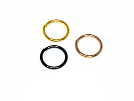 Continue ringen 1.0 Goud, Rosegoud, Zwart
