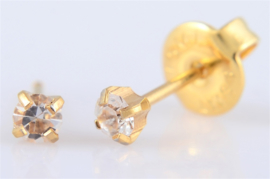 Schietoorbel Tiffany Goldplated 3mm Crystal