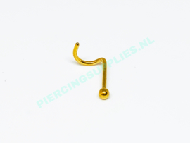 Gold Colored neus piercing 2 mm balletje