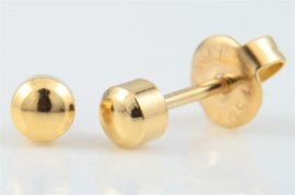 Schietoorbel Knopje Goldplated 4mm