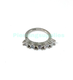 Jeweled Continue ringen 1.0 X 8 mm Staal