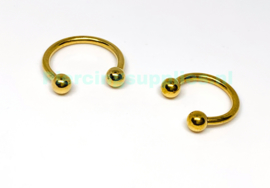 Gold Colored Circular Barbell diverse maten