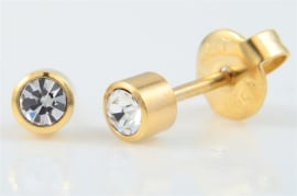 Schietoorbel Crystal Goldplated 4mm