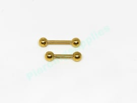 Gold Colored  1.2 Barbell